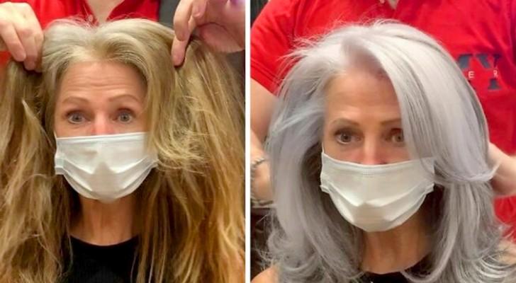 15 donne che hanno preferito sfoggiare tutta la bellezza dei capelli grigi anziché farsi un nuovo colore