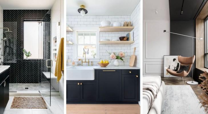 13 spunti d'arredo utili e affascinanti per usare il colore nero nei vari ambienti di casa