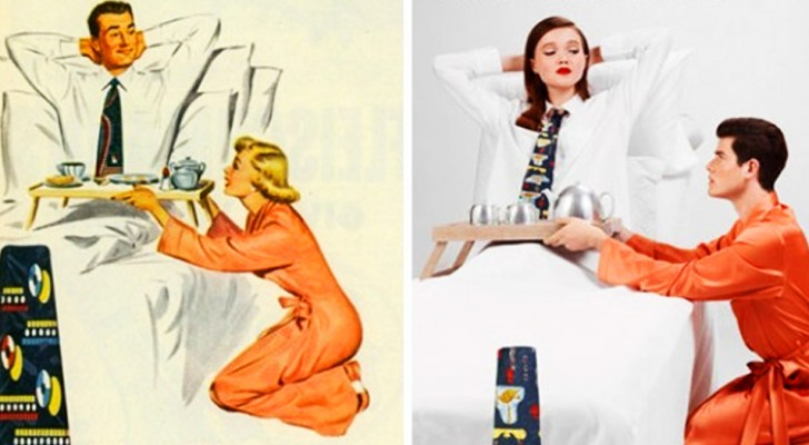 A photographer reverses the roles in some sexist ads from the 1950s