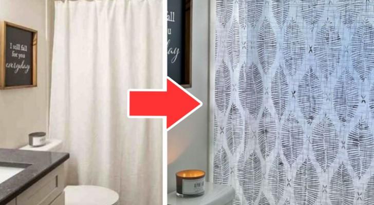 La tecnica semplice ed efficace per decorare la tenda della doccia e personalizzarla con gusto