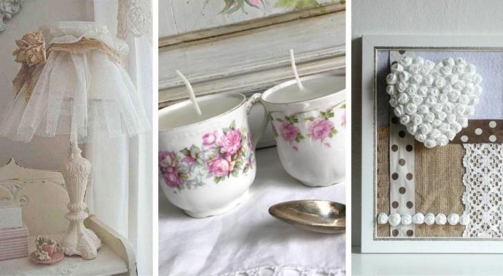 10 décorations DIY de style shabby-chic pour donner une touche romantique à votre maison