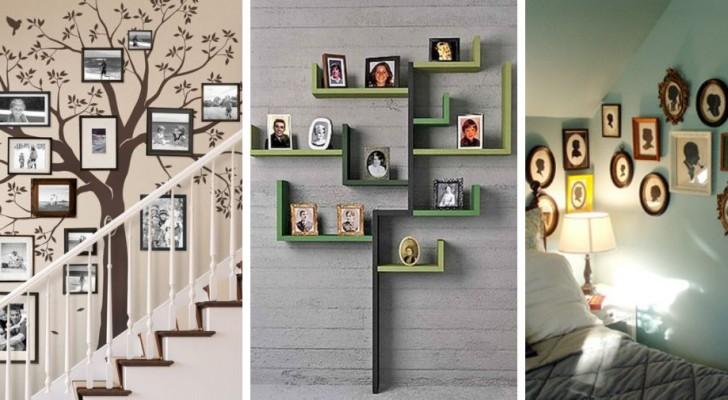 11 trovate originali per decorare le pareti di casa con alberi genealogici e foto di famiglia