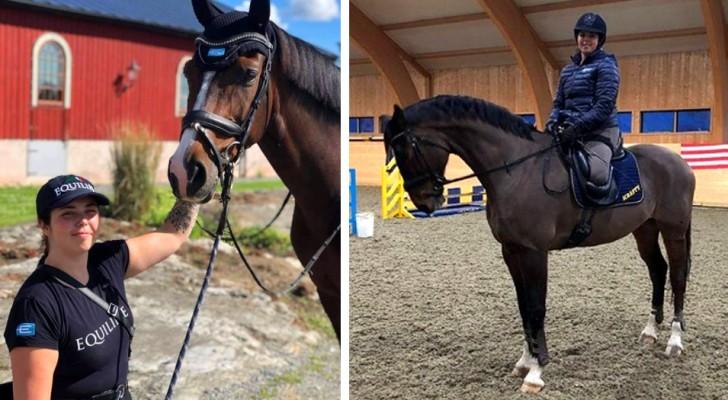 Una ragazza perde entrambe le gambe dopo un incidente stradale, ma diventa una campionessa di equitazione