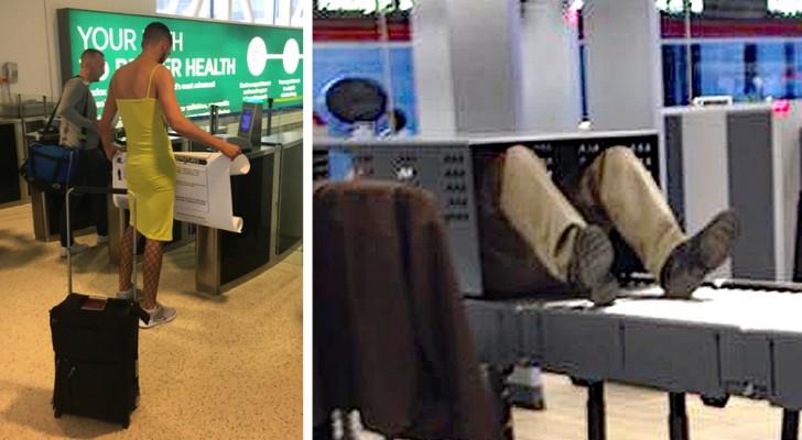 18 van de vreemdste en meest hilarische scènes die mensen op het vliegveld hebben vereeuwigd