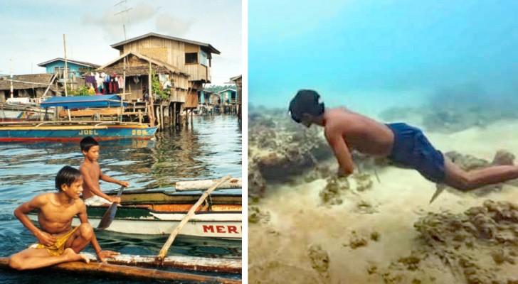 Les membres de cette tribu ont évolué pour vivre dans la mer : ils peuvent tenir jusqu'à 13 minutes en apnée