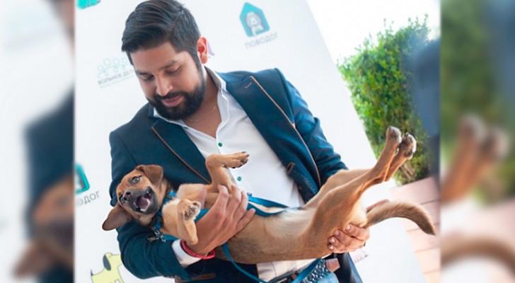 Un ragazzo peruviano adotta un cane randagio che aveva incontrato in Russia durante i mondiali di calcio