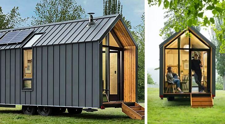 Un'azienda presenta la sua casa-capanno su ruote: è piccola ma all'interno non manca nulla
