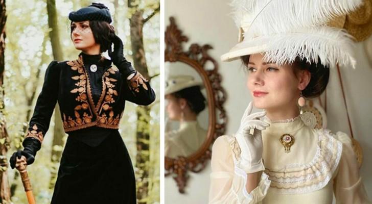 Questa ragazza si veste tutti i giorni come se vivesse nel XIX secolo: le foto dei suoi abiti sono meravigliose