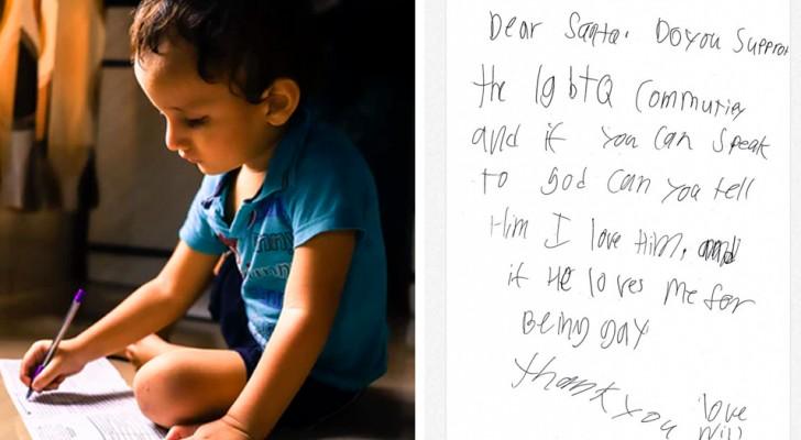 La lettera a Babbo Natale di un bambino commuove il web: