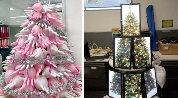 20 alberi di Natale fantasiosi che si sposano alla perfezione con l'ambiente dove sono stati realizzati