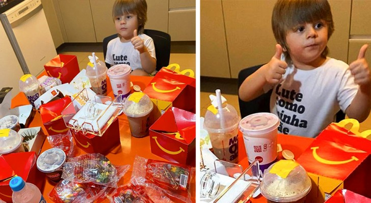 A 4-year-old boy finds his mom's cell phone and orders $100 worth of food delivery from McDonald's