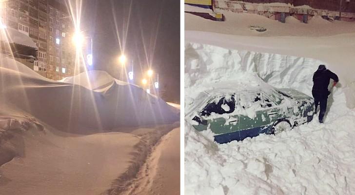 In questa città le nevicate eccezionali hanno sepolto ogni cosa: le immagini sono surreali e affascinanti