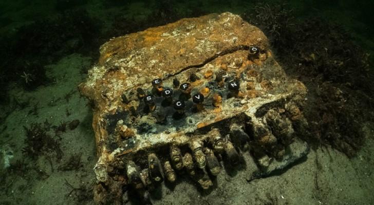 Een exemplaar van de gevreesde Duitse Enigma-machine werd teruggevonden in de Oostzee