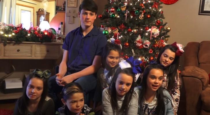 Ett par adopterar 7 syskon från ett barnhem för att inte lämna dem ensamma över julen