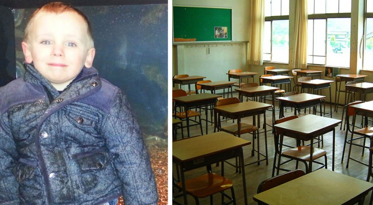 He destroys his classmate's coat: his mother forces him to give away the one he received for Christmas