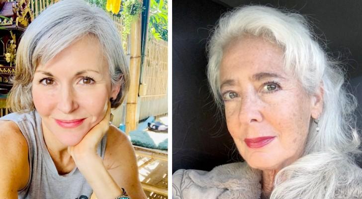 15 kvinnor som har bestämt sig för att sluta färga håret och visa upp sitt vackra gråa hår