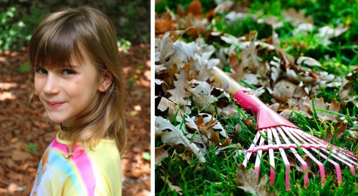Una mamma dà la paghetta alla figlia per aver ripulito il giardino, ma poi scopre di essere stata imbrogliata