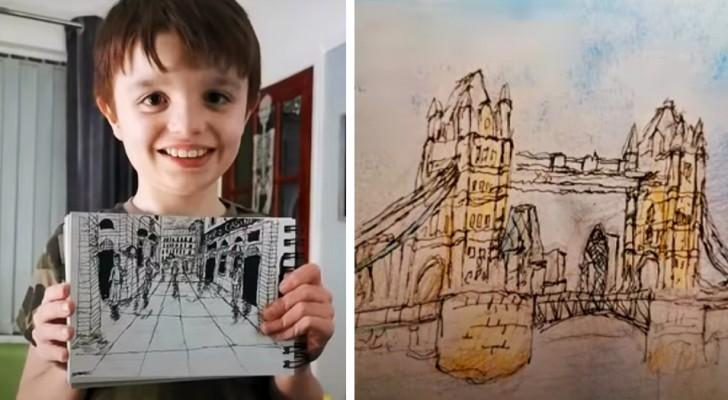 Esta criança autista pode desenhar o mapa de uma cidade depois de vê-lo apenas uma vez