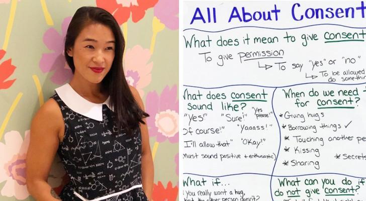 Una maestra spiega ai bambini il rispetto per il proprio corpo: una lezione sul consenso utile anche agli adulti