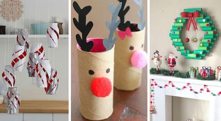 11 travaux de Noël créatifs à réaliser avec les rouleaux de papier toilette
