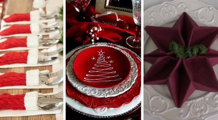 9 fantastiche proposte per apparecchiare la tavola di Natale con gusto e creatività