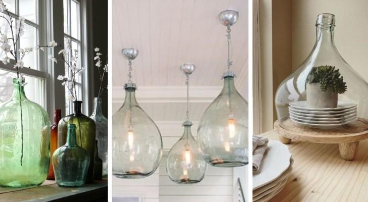 9 proposte brillanti per riciclare damigiane e trasformarle in affascinanti oggetti di design