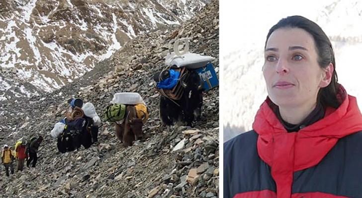Deze vrouw heeft besloten om de Mount Everest schoon te maken: in 3 jaar tijd heeft ze 8,5 ton afval verzameld
