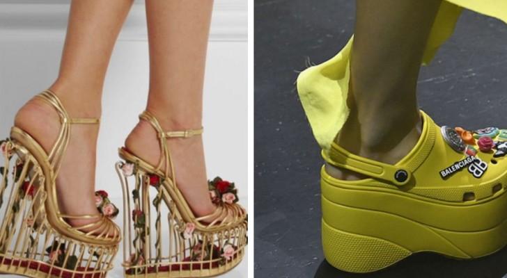 """15 Bilder von Schuhen werden dich an dem zweifeln lassen, was Stylisten und Designer unter """"gutem Geschmack"""" verstehen"""