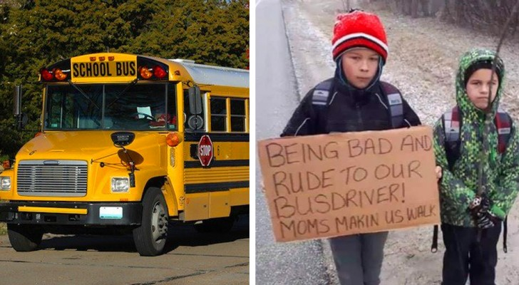 De kinderen waren onbeleefd tegen de buschauffeur: hun moeder laat ze 7 km lopen naar school