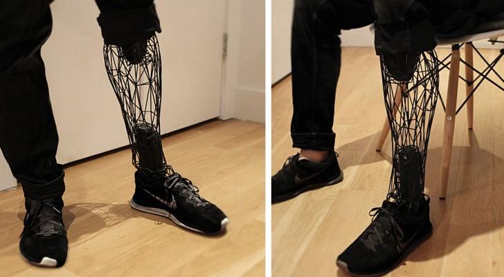 Questa protesi stampata in 3D è più economica e leggera rispetto a quelle tradizionali: sembra una gamba vera