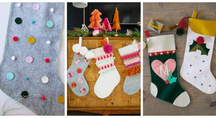 10 incantevoli calze della Befana da preparare con le vostre mani e da appendere durante le feste