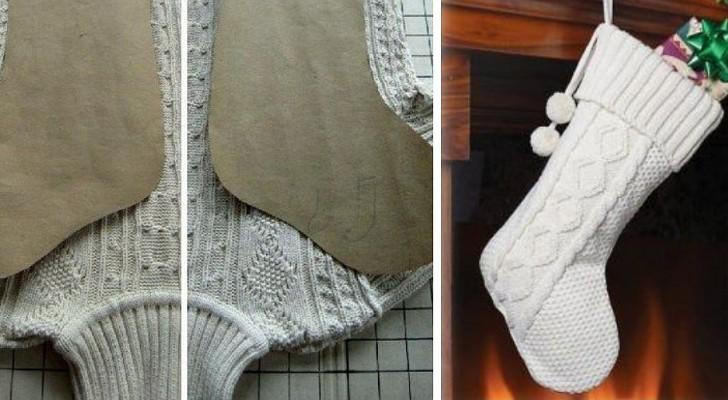 Calze della Befana fai-da-te: il modello da ritagliare per riciclare vecchi maglioni e non solo