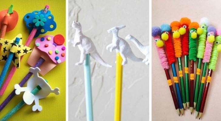 11 simpaticissimi lavoretti per realizzare divertenti top e decorazioni per matite