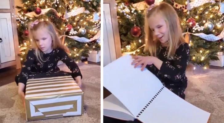 Uma menininha com deficiência visual se emociona ao receber os livros de Harry Potter em Braille no Natal
