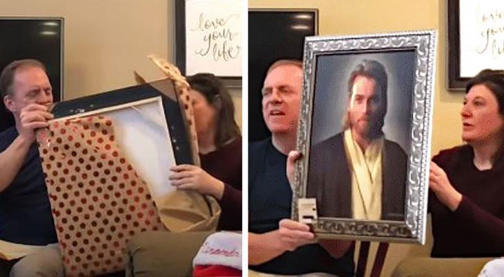 Un ragazzo regala ai genitori devoti un ritratto di Gesù: in realtà è Obi-Wan Kenobi di Star Wars
