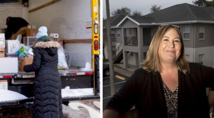 De huiseigenaresse trekt $100 af van de huur voor elk uur dat de huurders vrijwilligerswerk doen