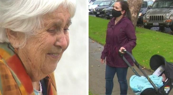 Abuela de 95 años es amenazada de desalojo por sus charlas en el balcón con la nieta