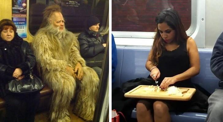 15 bizarre mensen die in het openbaar vervoer zijn vereeuwigd, laten zien dat ze niets geven om het oordeel van mensen