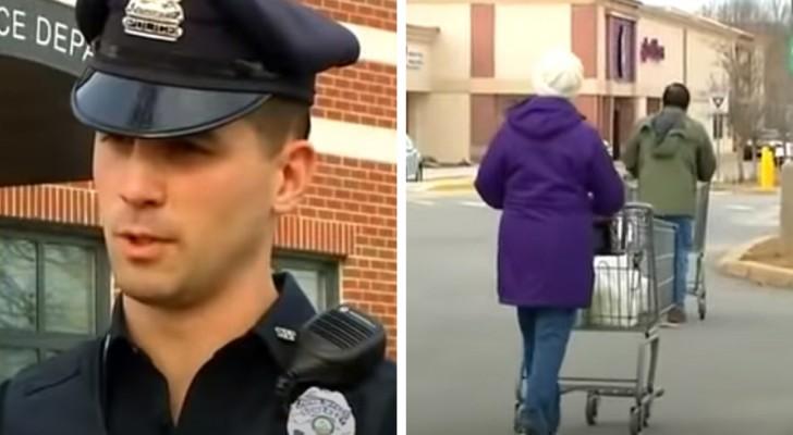 Twee arme moeders betrapt op het stelen van voedsel in een supermarkt: de politieagent betaalt de boodschappen voor hen