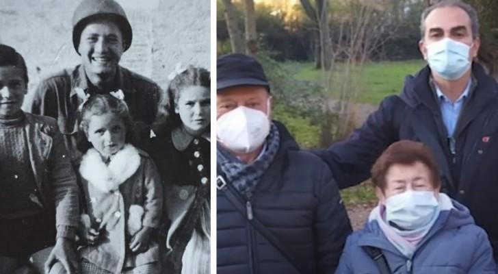 En amerikansk soldat finner de tre barn som han tog en bild med under andra världskriget: ett känslomässigt möte