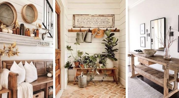 9 propositions charmantes pour meubler l'entrée de la maison dans un parfait style rustique