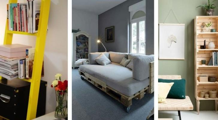 11 astuces créatives et originales pour meubler en dépensant peu grâce au recyclage créatif