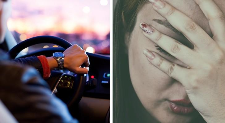Een vrouw ontdekt dat haar vriend haar heeft gedrogeerd om haar te laten slapen om geen ruzie te maken tijdens de rit