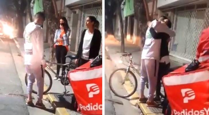 Un fattorino viene derubato della sua bicicletta mentre consegna le pizze: una cliente gli regala la sua bici