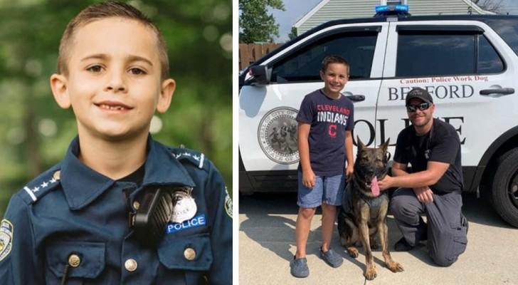 A 9 anni raccoglie i fondi necessari per acquistare giubbotti antiproiettile per gli agenti di polizia e i loro cani