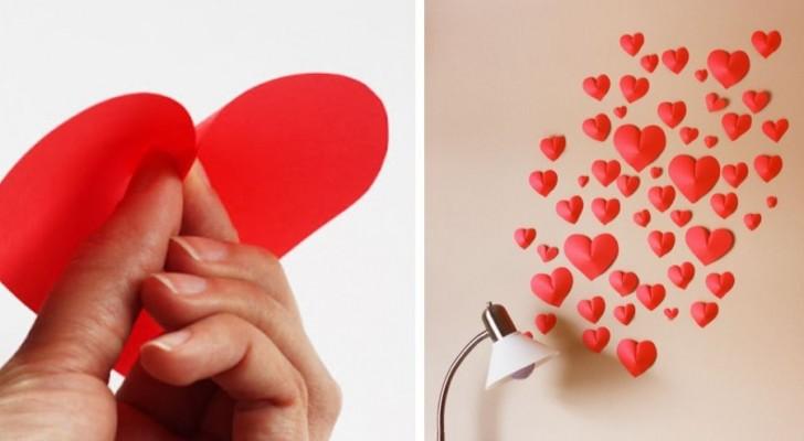 Il tutorial semplicissimo per realizzare cuori di carta 3D e decorare le pareti di casa con un tocco romantico