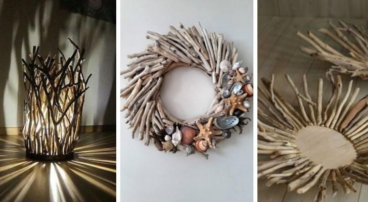 10 splendidi decorazioni fai-da-te da realizzare con i rametti di legno