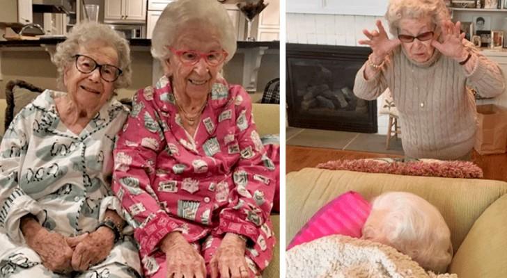 Una ha 105 anni, l'altra 100: queste due sorelle bisticciano ancora come se fossero bambine