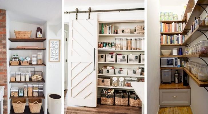 9 solutions DIY brillantes pour aménager un garde-manger dans la cuisine