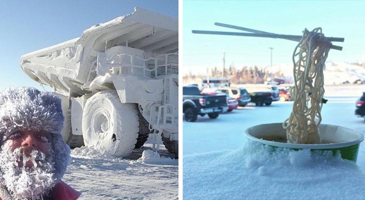 15 foto's laten zien hoe moeilijk maar fascinerend het kan zijn om de winter met ijskoude temperaturen het hoofd te bieden